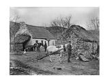 Farmyard Scene, Glenshesk, County Antrim, Ireland, C.1895 Lámina giclée por Robert John Welch