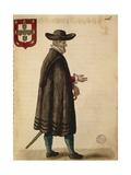 Portuguese Ambassador Giclée-Druck von Jan van Grevenbroeck