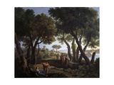 Landscape with Women at a Well Giclee Print by Andrea Locatelli