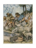 And He Made the Shepherds Let the Shepherdesses' Flocks Drink Giclee Print by Tony Sarg