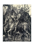 Knight, Death and the Devil, 1513-1514 Giclee Print by Albrecht Dürer