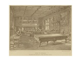 Billiard Room, Chateau De Meillant, Near Bourges, France Giclee Print