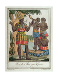 King of Bar, Near Gorée, Senegal, from Costumes De Différents Pays, 1796 Giclee Print by Jacques Grasset de Saint-Sauveur