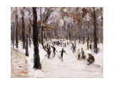 Skaters in the Tiergarten, Berlin; Eislaufer Im Berliner Tiergarten, 1924 Giclee Print by Max Liebermann