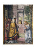 Mary Saying Farewell at the Temple Giclee Print by Bernardino Luini