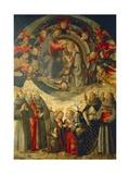 Coronation of the Virgin, 1486 Giclée-tryk af Domenico Ghirlandaio
