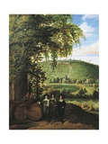 Landscape Showing Figures, Flemish Wine Merchants Giclee Print by Jacques d'Arthois