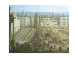 The Festival of the Four Altars in Naples, Ca 1757 Giclée-tryk af Antonio Joli
