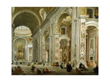 Interior of St. Peter's Basilica, 1754 Giclee Print by Giovanni Paolo Pannini