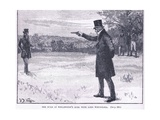 The Duke of Wellington's Duel with Lord Winchilsea 1829 Giclee Print by William Barnes Wollen