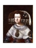 Portrait of Queen Mariana of Austria, Small Half-Length Giclee Print by Diego Rodriguez de Silva Velazquez