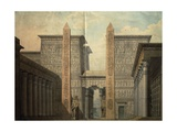 Set Design for the Court of the Temple Giclee Print by Simon Quaglio