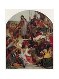 Geoffrey Chaucer at the Court of King Edward III of England Giclee Print by Ford Madox Brown
