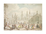All Souls College, Oxford or Radcliffe Square, Oxford, 19th Century Giclee Print by Thomas Rowlandson