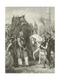 Surrender of Porus to the Emperor Alexander, 326 Bc Giclee Print by Alonzo Chappel