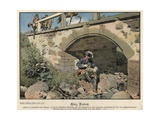 Frederick the Great of Prussia Hiding from the Enemy Giclee Print by Carl Rochling