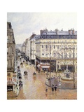Rue Saint Honore, Afternoon, Rain Effect Giclee Print by Camille Pissarro