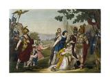 Rape of Sabine Women Giclee Print by Jacques Grasset de Saint-Sauveur