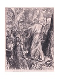 Druids Inciting the Britons to Oppose the Landing of the Romans Giclee Print by Charles Ricketts