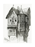 House in Bacharach on the River Rhine, 19th Century Giclee Print by Victor Hugo