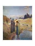 John the Baptist Baptized Jesus Christ, 1921 Giclee Print by Frederic Montenard