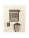 Cairo: Elevation of the House of Ibrahim Kikheyd El Sennary, 1820-1830 Giclee Print