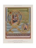 Initials from an 8th-Century Illuminated Manuscript Giclee Print