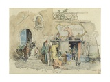 San Carlino Theatre in Naples Giclee Print by Pietro Scoppetta