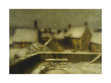 Gerberoy in the Snow; Gerberoy Sous La Neige, C.1900 Giclee Print by Henri Eugene Augustin Le Sidaner