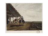 Travellers in the Pampas Refreshing Themselves by a House, 1818 Giclee Print by Emeric Essex Vidal