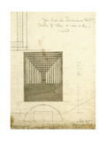 Design for the Order Desk Chair, Shown in Elevation and Plan, 1904 Giclee Print by Charles Rennie Mackintosh