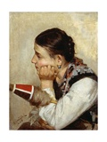 Spinner Deep in Thought, 1886 Giclee Print by Niccolo Cannicci