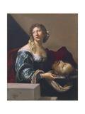 Herodias Bearing Head of St John Baptist Giclee Print by Claude Mellan