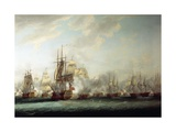 Naval Battle of the Saintes, April 12, 1782 Giclee Print by Nicholas Pocock