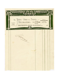 Stationery Design for John Orr and Sons, Glasgow, C.1894-1898 Giclee Print by Charles Rennie Mackintosh