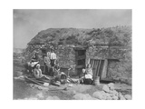 An Evicted Family at Derrybeg, County Donegal, Ireland, Late 1880S Giclee Print by Robert French