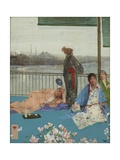 Variations in Flesh Colour and Green, the Balcony, C.1870-79 Giclee Print by James Abbott McNeill Whistler