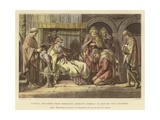 Harold, Returned from Normandy, Presents Himself to Edward the Confessor Giclee Print by Daniel Maclise