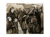 Children of Poor Anglo-Saxon Families Sold into Slavery Giclee Print by Richard Hook