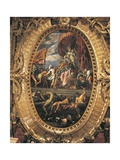 Venice Being Crowned by Victory Giclee Print by Jacopo Palma the Younger