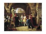 Francesco I in Benvenuto Cellini's Studio, 1837 Giclee Print by Francesco Podesti