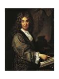 Portrait of Nicolas Boileau Giclee Print by Jean-Baptiste Santerre