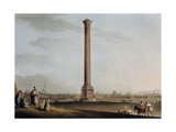 Pompey's Pillar, Egypt, Engraving from Views in Egypt Giclee Print by Luigi Mayer