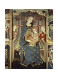 Enthroned Madonna with Child, Detail from Altarpiece Giclee Print by Jaume Serra