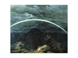 Detail of Mountain Landscape with Rainbow Giclee Print by Caspar David Friedrich