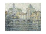 Moret Landscape, the Bridge; Paysage Moret, Le Pont, 1918 Giclee Print by Henri Eugene Augustin Le Sidaner