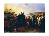 Boarding of the Thousand at Quarto, Circa 1860 Giclee Print by Gerolamo Induno