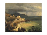Storm on the Amalfi Coast and Gulf of Naples Giclee Print by Giacinto Gigante
