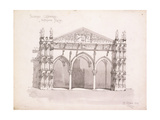 Palermo Cathedral, Study of the Entrance Porch, 1891 Giclee Print by Charles Rennie Mackintosh