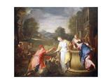Rebecca and Eliezer, 1700-1705 Giclee Print by Gregorio Lazzarini